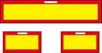 Placa de vehículo largo V-6